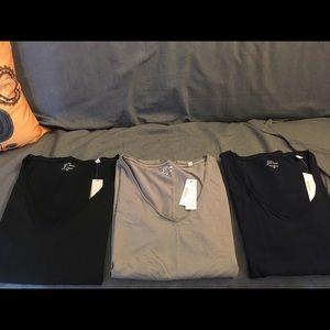 Lot of three jcrew V-neck T-shirt's.